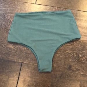 High waisted army green bottoms